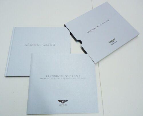 BENTLEY 2009 CONTINENTAL FLYING SPUR DEALER BROCHURE / SPECIFICATION BOOK SET