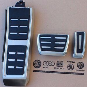 Audi-A6-4G-C7-original-RS6-Pedalset-S-Line-Pedale-S6-Pedalkappen-Fussstuetze-RS7
