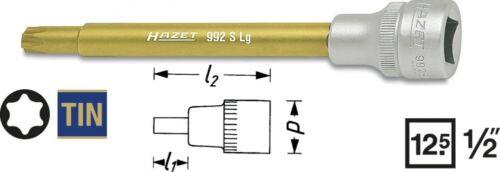 HAZET Steckschlüsseleinsatz für Kühlmittelpumpen T30 TORX 1//2 Zoll 12,5mm 992SLG