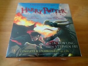 HARRY-POTTER-AUDIO-CDs-4-5-COMPLETE-amp-UNABRIDGED-READ-BY-STEPHEN-FRY-J-K-ROWLING