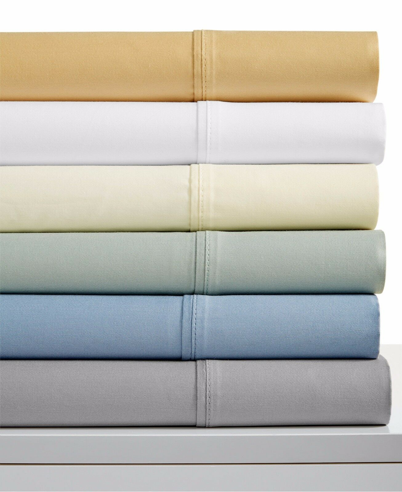 Luxury Sateen Brentford 450 Thread Count 6 Piece QUEEN Sheet Set GREEN W381