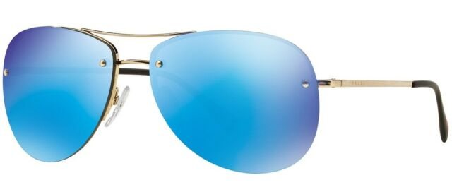 d5fdc07146 Prada Sport Lifestyle Sunglasses PS 50RS ZVN-5M2 59mm Pale Gold   Blue  Mirror