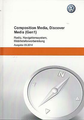 vw composition media discover media 2014 betriebsanleitung handbuch rn ebay. Black Bedroom Furniture Sets. Home Design Ideas