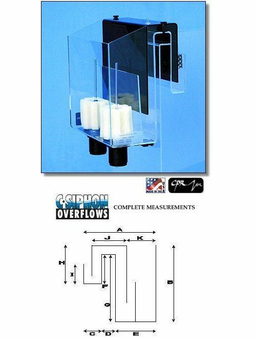 CPR CS202 Deluxe Aquarium Overflow Box