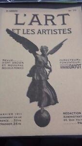 Revista ARTE Y Las Artistas A. Dayot N º 70 6EME Annee Janv. 1911 París