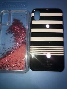 Lot-Of-2pc-Authentic-iPhone-XS-Casemate-Case-Kate-Spade-Stripe-Case