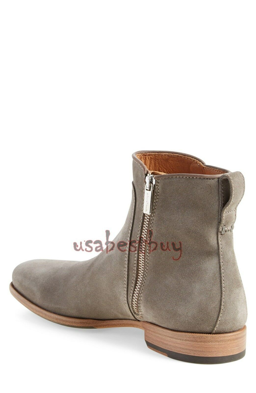 New Handmade Mens Suede Ankle High High High Zip UP Stiefel. Men Ankle Stiefel 0a885a