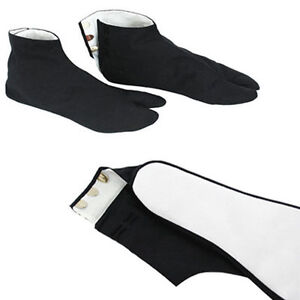 "Japanese 10.5/"" White Kimono Split Toe Tabi Socks w// Kohaze Geta Zori Sandals"