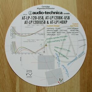 Audio-Technica-at-lp120usb-at-lp120xusb-at-lp140xp-Tonarmbasis-Ausrichtung-Winkelmesser