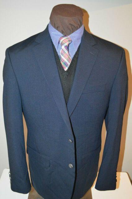 NWOT Michael Kors mens 2 silver button navy blue sport coat jacket blazer sz 42R
