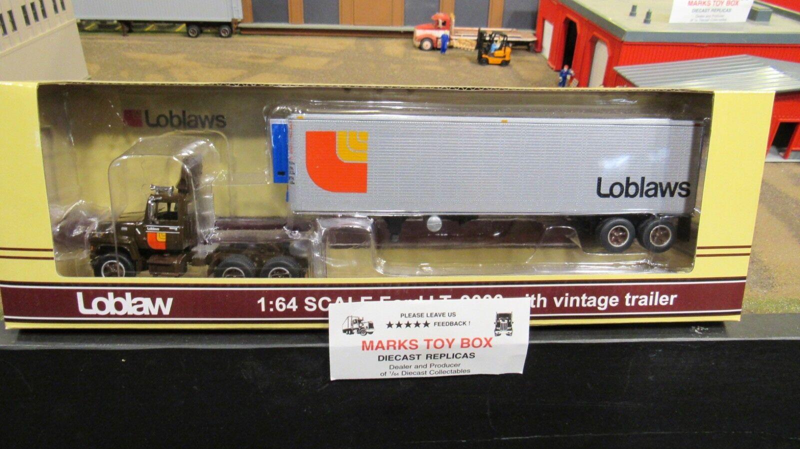 DCP 33452 LOBLAWS FORD L9000 SEMI DAY CAB TRUCK & Jahr REEFER TRAILER 1 64 CL