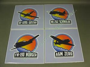 4-WWII-Military-Axis-Airplane-Plane-Prints-Germany-Japan-Bf109G-Me262-FW-190-A6M