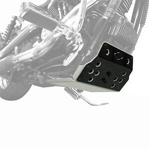 100% De Qualité Iron Optics Moteur Protection Argent/noir Pour Harley Davidson Dyna Bj. 1990-2017-afficher Le Titre D'origine