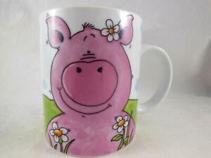 Whimsical Colorful Happy Pig Coffee Tea Cocoa Cup Mug Ebay