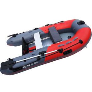 Schlauchboot-Ruderboot-AQUALELA-280-Alu-Boden-Paddelboot-Gummiboot-rot-Motor