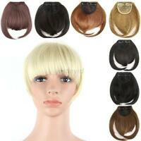 Fashion Women Ladies Clip on Front Neat Bang Fringe Hair Straight Wigs Hairpiece
