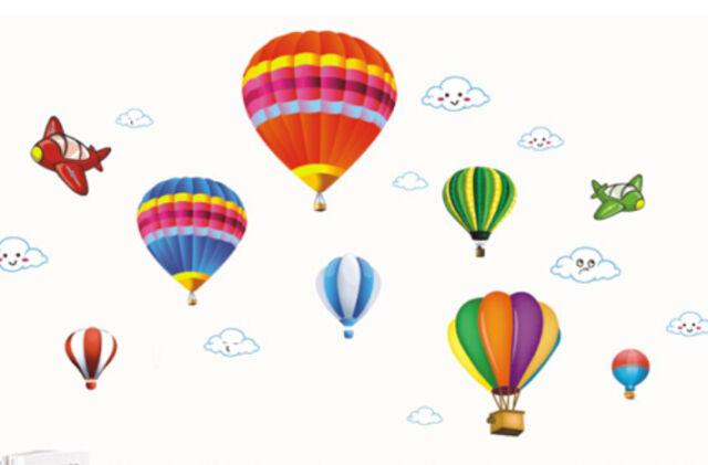 Hot Air Balloon Plane Cloud Wall Sticker Decal Removable Kid Nursery Home Decor