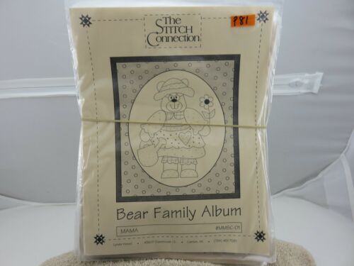 The Stitch Connection BEAR FAMILY ALBUM Complete 112 Redwork Quilt Patterns