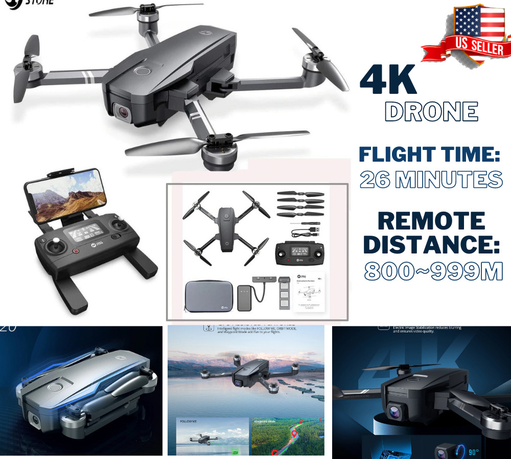 4K Holy Stone HS720 Foldable Drone with HD EIS 5G 4K Camera GPS FPV Quadcopter