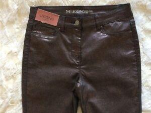 10 skinny Next glitterati leggings denim R con skinny Sz neri elasticizzato in Bnwt Pantaloni wESPZqq