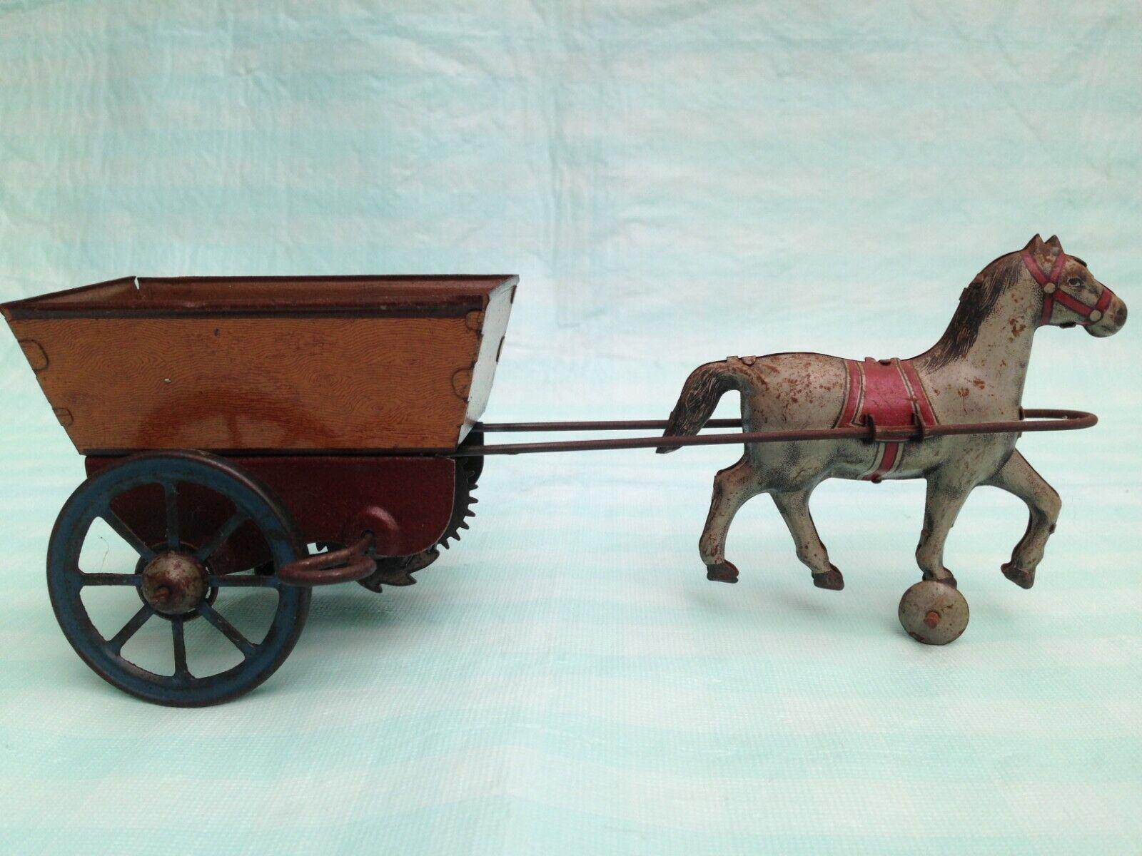 Tienda de moda y compras online. Marx Girard Juguete Litografía De Estaño Wind Up Up Up caballo y Cochero 1930 S  producto de calidad