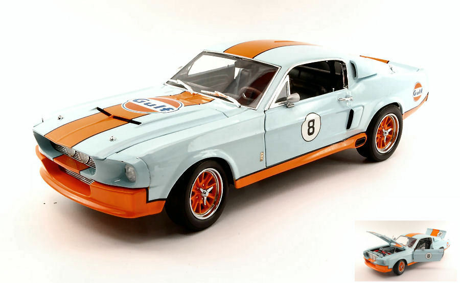 Shelby Gt-500 1967 Gulf 1 18 Model 12954 vert LIGHT
