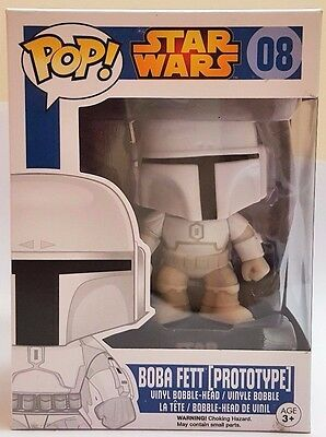 Funko Pop Boba Fett Prototype # 08 Star Wars Bobble Head Vinyl Figure Brand New