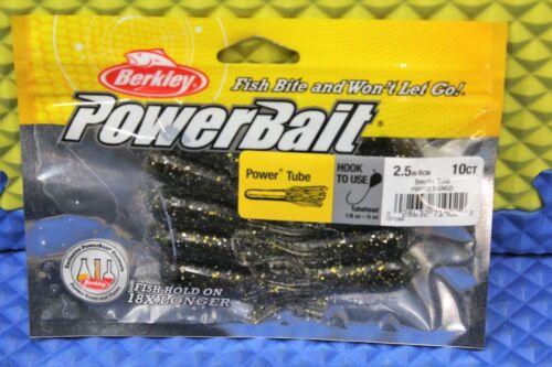 Berkley Power Bait Soft Bait Power Tube 2.5 IN 10-Ct CHOOSE YOUR COLOR!