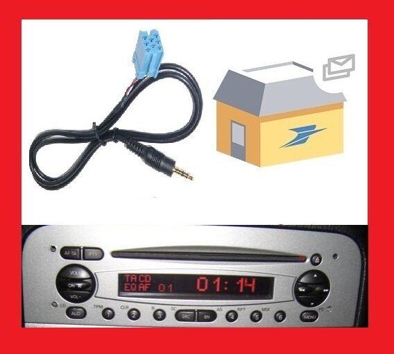 Cable auxiliaire adaptateur mp3 ipod autoradio ALFA ROMEO 147 DE 2003 JTD 140