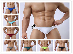 New-men-swimwear-swim-underwear-Briefs-Bikini-Beachwear-swimming-trunks-M-XL