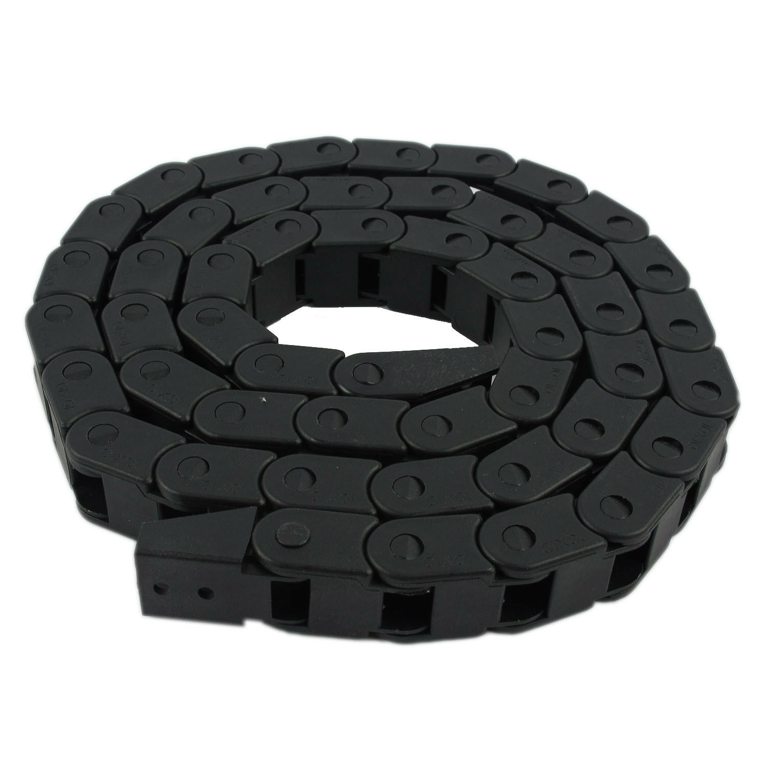 Cable Drag Chain Black R28 1000mm//40 Long Plastic Flexible Nested Nylon Cable Drag Chain Wire Carrier for for Electrical Machines