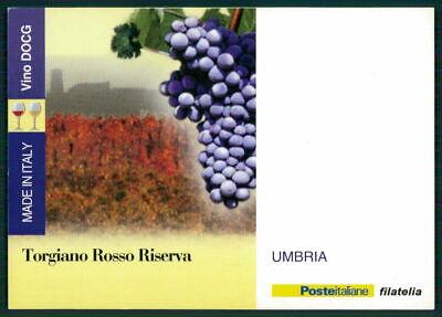 """Italien Werbekarte """"made In Italy"""" Weinanbau Wein Wine Trauben Umbria Ed59"""