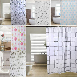 Image Is Loading Luxury Modern Bathroom Shower Liner Curtains Extra Long