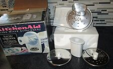 Kitchen Aid Stand Mixer Disc Slicer Shredder Attachment in original box complete