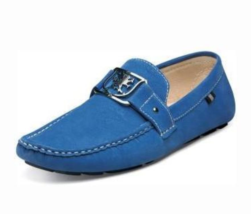 Stacy Adams Men's Veda Leather Loafer Slip On Moc Toe Casual shoes bluee10.5 size