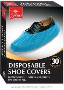 100 (50) Prs desechables Overshoes, Cubiertas De Zapatos Y Botas En Relieve Azul 2.5g Std
