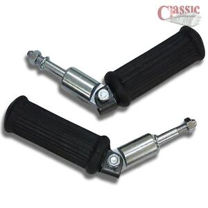 New-Pair-of-BSA-A7-A10-RGS-Universal-folding-pillion-footrest-with-rubbers