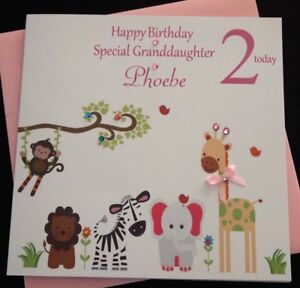 Image Is Loading Handmade Personalised Girls 1st 2nd Birthday Card Daughter