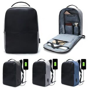 Anti-theft Men Laptop Notebook Backpack Travel School Bag with USB ...