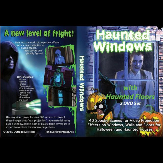 HAUNTED WINDOWS DVD - Digital Halloween Decorations Video Projection