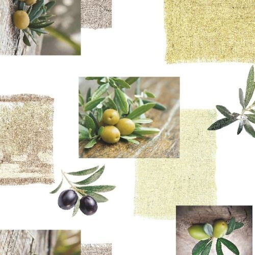 Toile Cirée Nappe Lavable olives rectangulaire environ ovale c145191