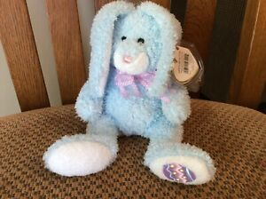 """Ty Beanie Baby """"HAPPILY"""" the Blue Bunny MWMT 2006"""