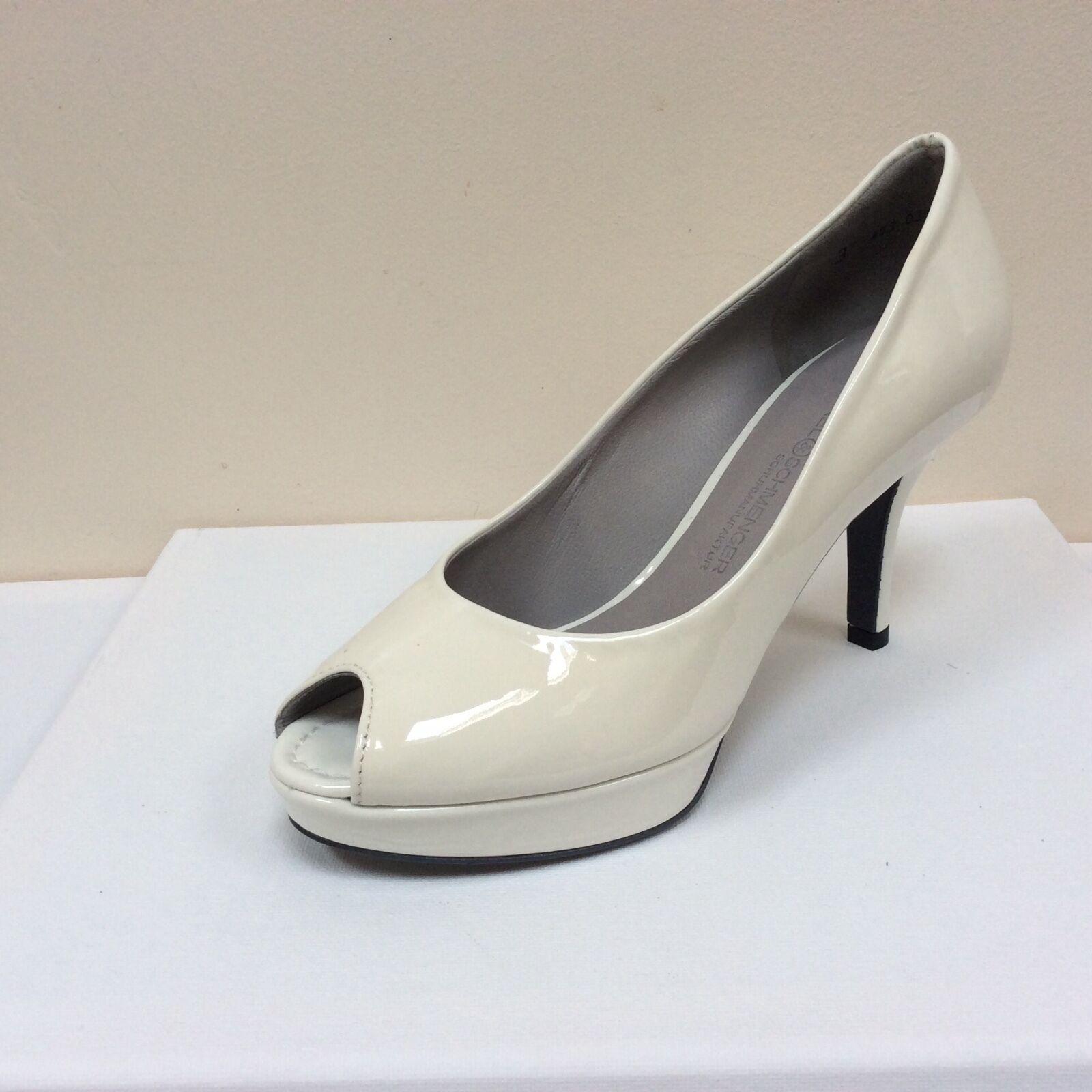 K&S Weiß patent peep toe platform court schuhe, UK 8/EU 41,   BNWB