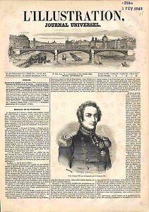 Portrait de Christian VIII Roi du Danemark King of Denmark GRAVURE 1848 - France - ATTENTION, QUE LA COUVERTURE, PAS LE JOURNAL ENTIERJUST A COVER, NOT A NEWSPAPER France ANTIQUE PRINTGRAVURE 100 % DÉPOQUE 1848 PORT GRATUIT EUROPE A PARTIR DE 4 OBJETS BUY 4 ITEMS AND EUROPE SHIPPING IS FREE Il s'agit d'un fragment de page orig - France