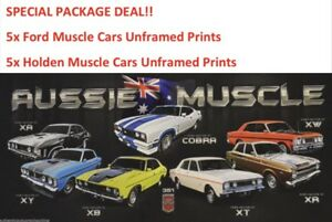 HOLDEN-PRINTS-amp-FORD-PRINTS-MUSCLE-CAR-PACKAGE-DEAL