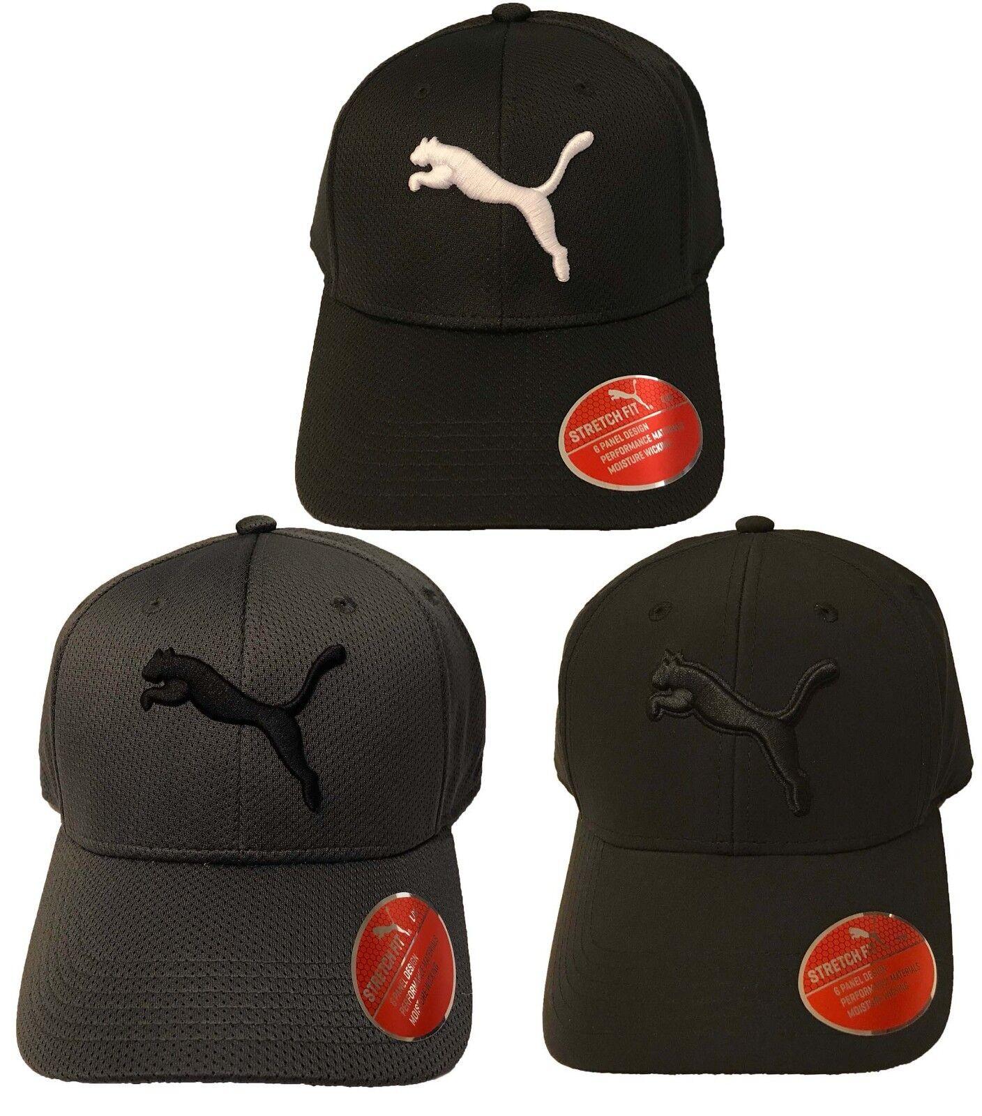 buy popular 93e0b 6afea ... netherlands puma athletic adult baseball cap stretch mesh fit puma logo  moisture mesh stretch hat cap