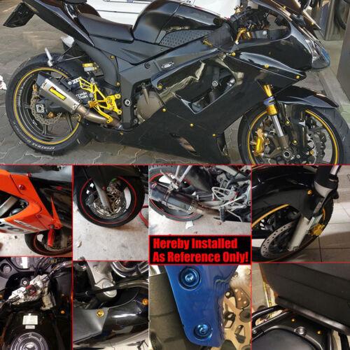 Black Fairing Bolts Kit Fastener Clips Screws Fits Yamaha Kawasaki Suzuki Honda