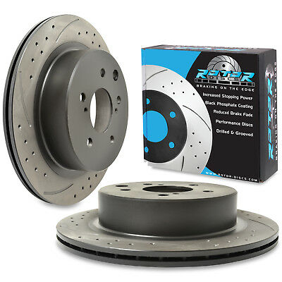 For Nissan Skyline R33 2.5 GTST 93-98 296mm Rear Drilled Grooved ...