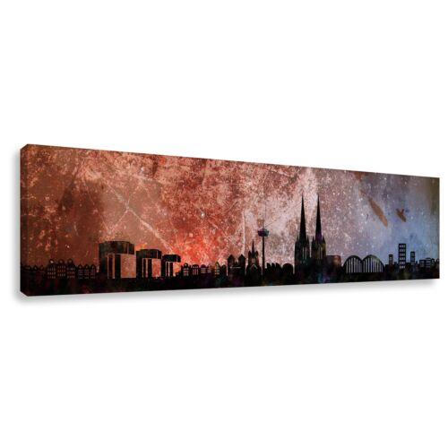 "Panorama Wandbild von Köln Skyline /""Cologne PJ/"" Kunstdruck Leinwand div.Größen"
