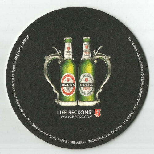 Beck/'s Beer Coaster Holiday Ornament